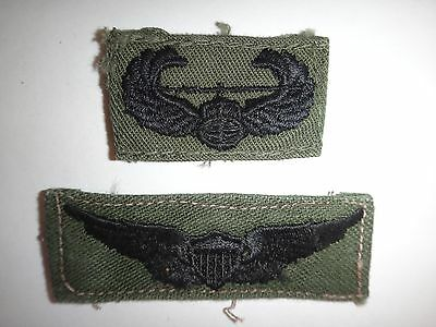 2 US Army Patches: AIR ASSAULT + ARMY AVIATOR