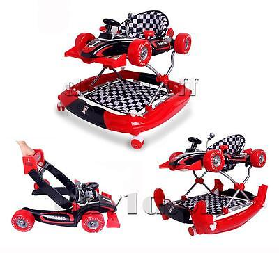 New Formula F1 Racing Car Baby Walker 4in1 with Toys Play Centre and Push Handle