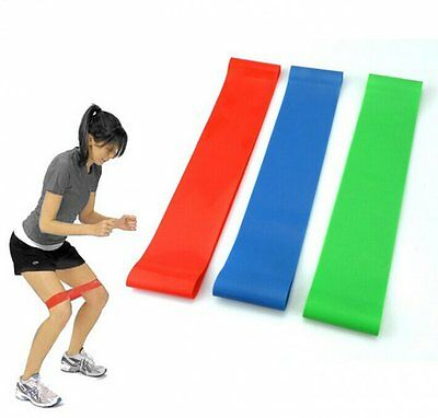 4 Resistance Band Exercise Loop Crossfit Strength Weight Training Fitness Yoga