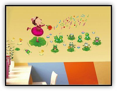Music little girl of wall stickers child real dance vinilo decoracion infantil