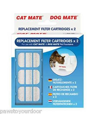 Pet Mate Cat Dog Water Fountain Replacement Filter Cartridges 2Pack multi option