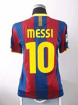 Lionel MESSI #10 Barcelona Home Football Shirt Jersey 2010/11 (M)
