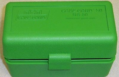 MTM Case Gard™ New MTM Plastic Ammo Box 50 Rd RM-50-10 Rifle 308 243 6mm Green