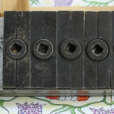 Letterpress printing supplies: 4 x Quoins Cornerstone, compositors, used