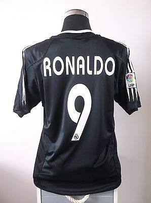 RONALDO #9 Real Madrid Away Football Shirt Jersey 2004/05 (M)