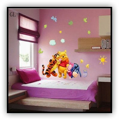 Vinilo Cartoon Wall Sticker Tiger Mural Decal Kids winnie de poo