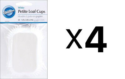 Wilton Mini Loaf Baking Liner/Cups White 50 Pack Bread/Muffins/Cake (4-Pack)