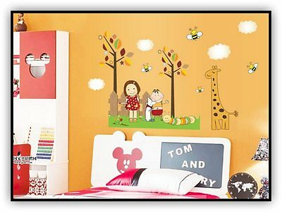 Vinilo decor infantil boy and girl cartoon wall stickers child room stickers