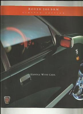 Rover 200 Brm Limited Edition Slightly Oversized Car Sales Brochure 1998