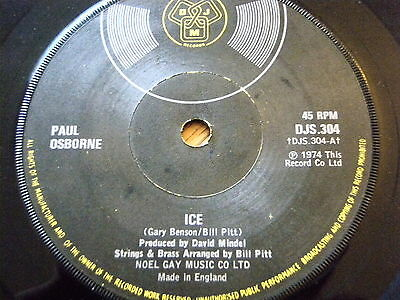 "Paul Osborne - Ice  7"" Vinyl"