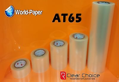 """R-Tape AT65 Clear Application Tape High Tack Premask Vinyl Transfer 12""""x300ft :)"""