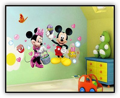 Vinilo Minnie Cartoon Children Mouse Wall Sticker Vinyl Decals Kids Mural Baby