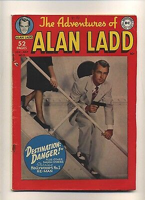 Adventures of Alan Ladd #5 (VG-) DC Comics 1950 Photo cover Golden Age (c#08880)