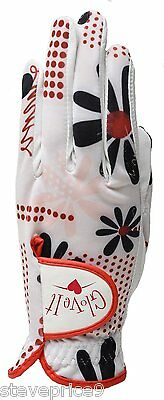 New Ladies Glove It Daisy Script Golf Glove. Size Medium.