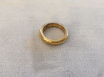 Used Lord Of The Rings Ring Of Power One Ring Replica Gold Toned Elvish Writing