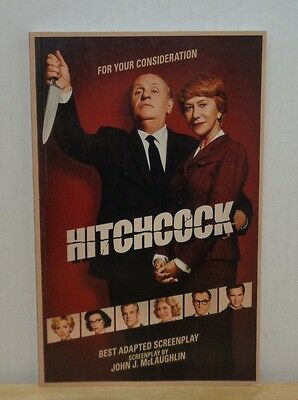 Hitchcock FYC For Your Consideration Adapted Screenplay Oscar Promo Script