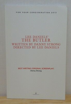 Lee Daniels' The Butler FYC For Your Consideration Oscar Promo Script Screenplay