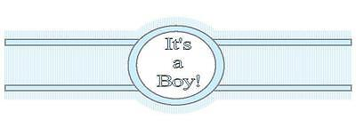 It's a Boy Cigar Candy Wrap Label New Born Baby's Birth Shower Blue Set of 30
