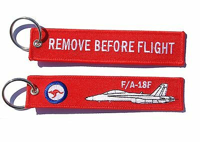 RAAF F/A18 Remove Before Flight Key Tag Luggage Tag Key Ring
