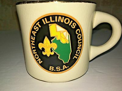 BOY SCOUTS BSA Northeast Illinois Council mug vtg SCOUT SCOUTING