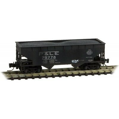 Micro-Trains MTL Z Weathered NYC/P&LE 33' Twin Bay Hopper Offset Sides 53344130