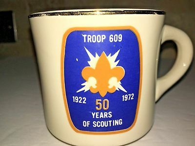 BOY SCOUTS BSA SCOUT 50 years of Scouting 1922 1972 Troop 609 vtg