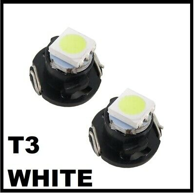 T3 White LED Neo Wedge Dash Gauge Console Light Bulbs Globe 8mm