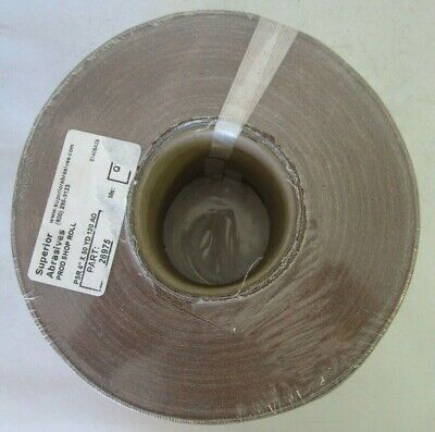 "Superior Abrasive #26975 Resin Cloth Production Shop Roll PSR 4"" x 50 YD 120 AO"