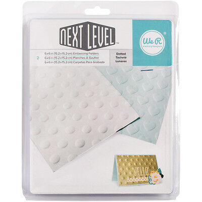 """""""Next Level Embossing Folders 6""""""""X6"""""""" 2/Pkg-Dotted"""""""