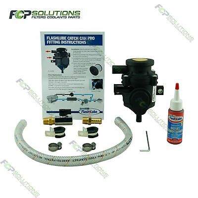 Flashlube Catch Can Pro Oil Fume Filter Crankcase Breather - Made in Germany
