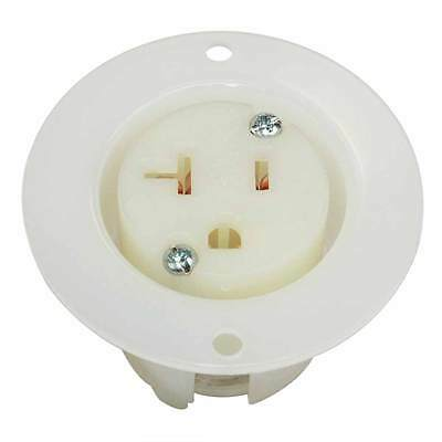 NEMA 5-20R 2 Pole 3 Wire 20A 125V Heavy Duty Standard Receptacle Flange Outlet
