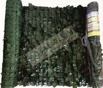Artificial hedge Ivy leaves screen wall fence garden hedging