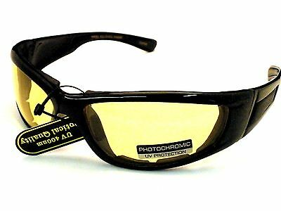 42259 Motorcycle Glasses with Transitional Photochromic Yellow to Gray Lens