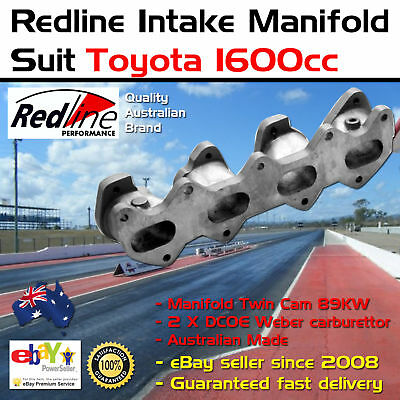 New Intake Inlet Manifold Toyota 4AGE 1600 89KW 2 X DCOE