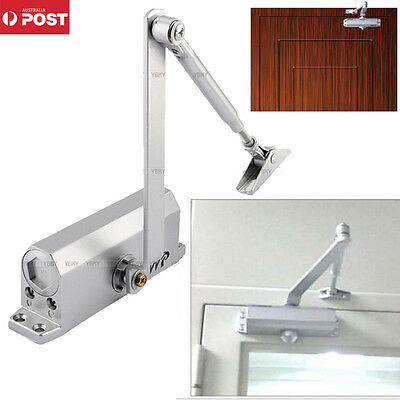 Hot Fire Rated Slide Arm Hold Open Silver Door Closer Suits 20~80Kg Back Check