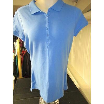 Women's Short Sleeve Basic Polo, Berry Blue, Xxl (20) Faded Glory