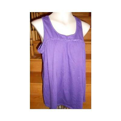 Maternity-Women's Braided Sconeck Tank Top, Purple, Size: Xl Introspect