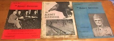 ULTRA RARE Vintage 1940's The Army Officer Magazines (lot of 3)
