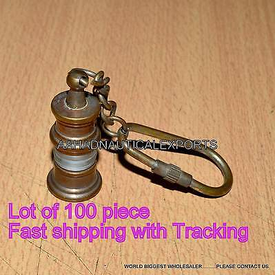 Brass lantern Key Chain- collectible Marine Nautical Key Ring @