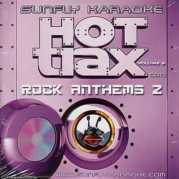 Sunfly Karaoke Hot Trax Volume 9 Rock Anthems 2 CD + G New Sealed