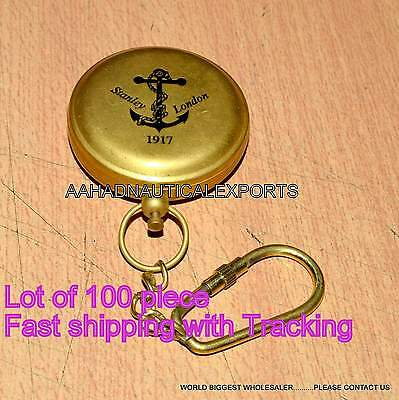 Victorian Pocket Brass Compass Vintage Handmade Ship Push Button Brass Compass