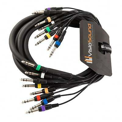 "8-Way 3m 6.35mm 1/4"" Stereo Jack / Balanced Jack Loom / Patch Multicore Cable"