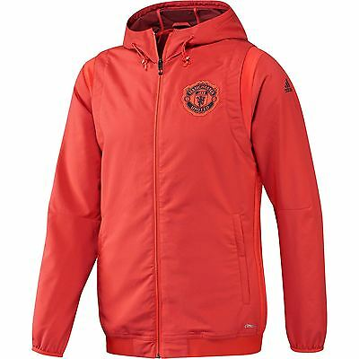 adidas Mens Gents Football Soccer Manchester United Cup Training Jacket - Red