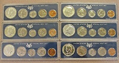 6 1966 US Silver Special Mint Set 40% Halfs * Nice Clean Coins *