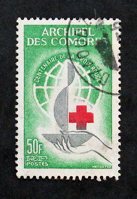 Timbre COMORES / COMOROS Stamp (Colonie) - Yvert & Tellier n°27 Obl (Col1)