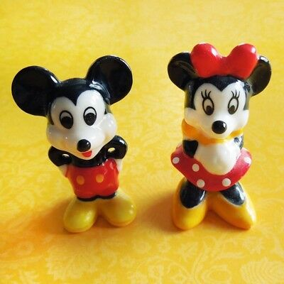 Disney MICKEY MOUSE MINNIE MOUSE LOT OF 2 Bone China Ceramic Porcelain Figurines