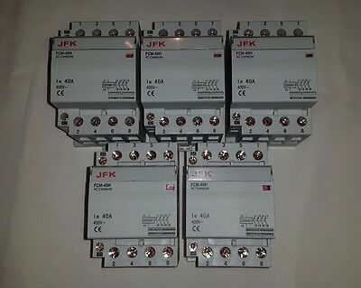 ac modular contactor 40 amp 4 pole lighting heating etc 240 volt coil NEW
