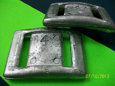 DIVE SCUBA WEIGHT SPOT-ON WEIGHTING! 4# HIP STYLE 2pc + 2# 2pc for BCDorBELT
