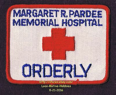 LMH PATCH Badge  ORDERLY  Margaret R Pardee MEMORIAL HOSPITAL  Hendersonville NC