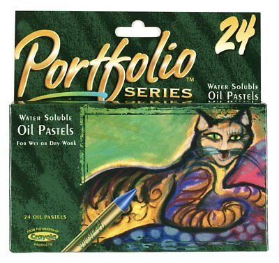 Crayola 3624 Portfolio Series Oil Pastels Water Soluble 24 Colors NEW!